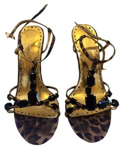 BCBGeneration Gold And Leopard Pumps