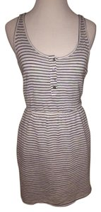 Aqua short dress Striped on Tradesy