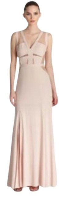 Item - Pink Cristy Sleeveless Lace-insert Gown Long Night Out Dress Size 8 (M)