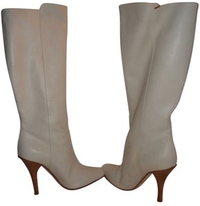 Jimmy Choo Pull-on Off-white Box White Boots
