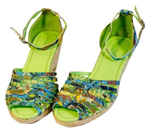 Bamboo Green/Multi Wedges