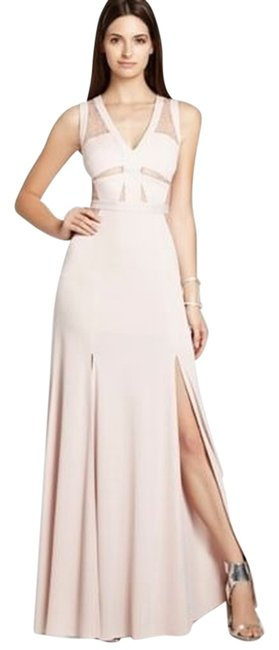 Item - Bare Pink Bcbg Cristy Sleeveless Lace-insert Gown Jqe65a80 Long Night Out Dress Size 12 (L)