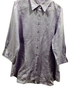 Coldwater Creek Button Down Shirt lavender