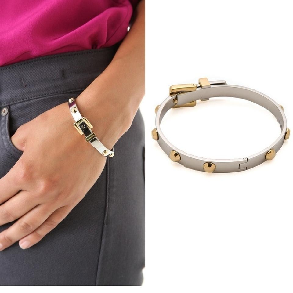 983e024ef6d4 image is loading michael kors goldtone heritage astor buckle studded bangle  · 1234567 ...