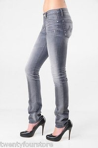 AG Adriano Goldschmied Premier Skinny Straight In Years Aged Gray Skinny Jeans