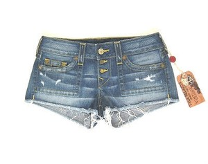 True Religion Jeans Cut Off Shorts Blues