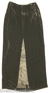 Ralph Lauren Blue Label Velvet Ribbed Corduroy Long W Front Slit Maxi Skirt Green