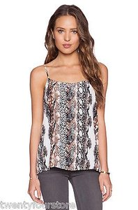 Equipment Cara Silk In Bright White Animal Print Top Multi-Color