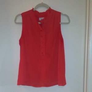 Ann Taylor LOFT Top Dark Orange