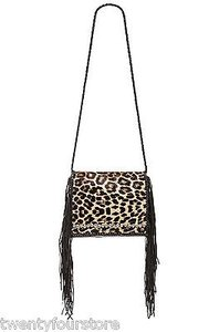 Other Simone Camille Ade Fringe Tassel In Animal Print Cross Body Bag