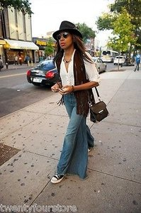 Free People Vintage Extreme Trouser/Wide Leg Jeans