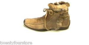 Brev Made In Italy Fur Ankle Beige Boots