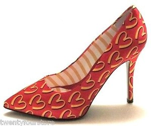Moschino Print Food Capsule Red Pumps