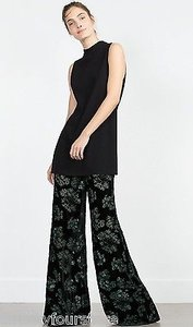 Zara Velvet Trouser Wide Leg Pants