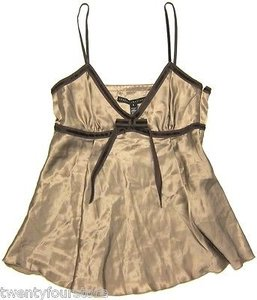 Robert Rodriguez Silk In Caramel Light Top Brown