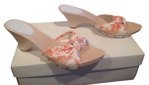 Max Studio Orange and white Mules