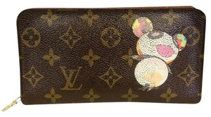 Louis Vuitton Louis Vuitton GM Signature Takashi Murakami Panda Long Zippy Wallet