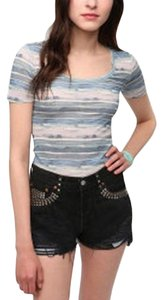 BDG Urban Outfitters Scoop Neck T Shirt Blue