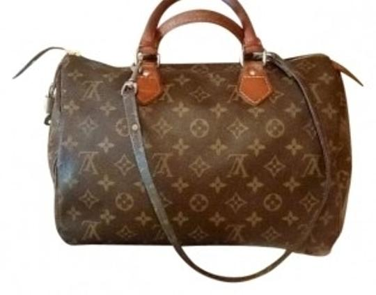 Preload https://item2.tradesy.com/images/louis-vuitton-speedy-browns-leather-and-canvas-satchel-147706-0-0.jpg?width=440&height=440