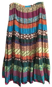 BCBGMAXAZRIA Boho Colorful Maxi Skirt multi-color