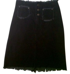 7th Alternative Cord Corduroy Skirt Dark Grey