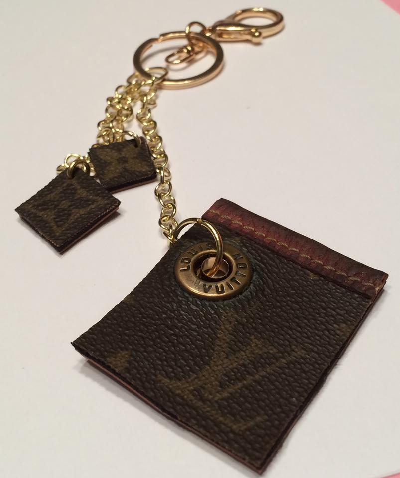 Louis Vuitton Handbag Charm Keychain Made From Authentic Lv Bag