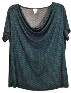 Jaclyn Smith Plus-size Cowl Stretchy Top