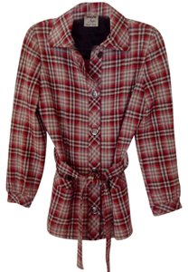 Other Red & Gray Plaid Wool Blazer