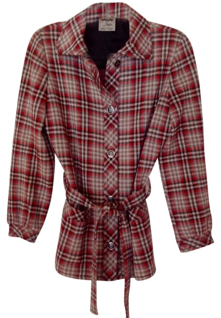 Preload https://item5.tradesy.com/images/red-and-gray-plaid-wool-vintage-blazer-size-10-m-1477184-0-0.jpg?width=400&height=650
