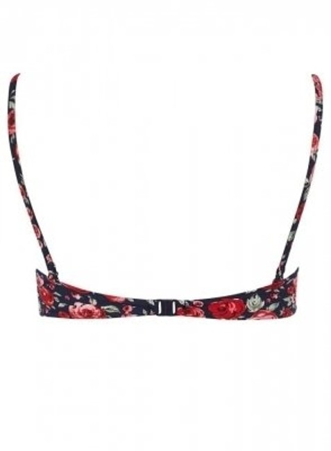 Dorothy Perkins Navy floral bow balconette bikini top