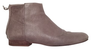 Theory Bootie Ankle Leather Grey Boots