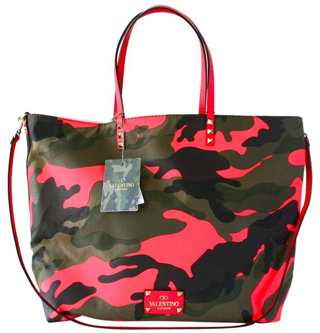 Item - Bag Reversible Camo Camouflage Patchwork Easy Neon Orange & Green Canvas Tote