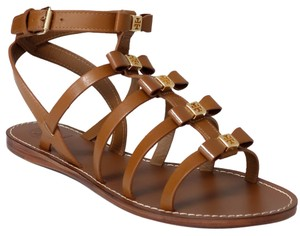 Tory Burch Kira Gladiator Leather Royal Tan Sandals