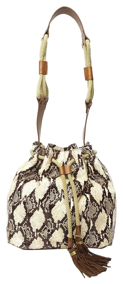 Lanvin Bucket Beige Python Shoulder Bag - Tradesy 90d6122c6d2