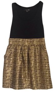 Forever 21 short dress Black, gold on Tradesy