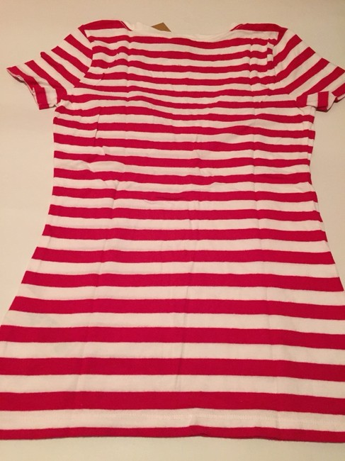 Hollister T Shirt Red And White Image 2