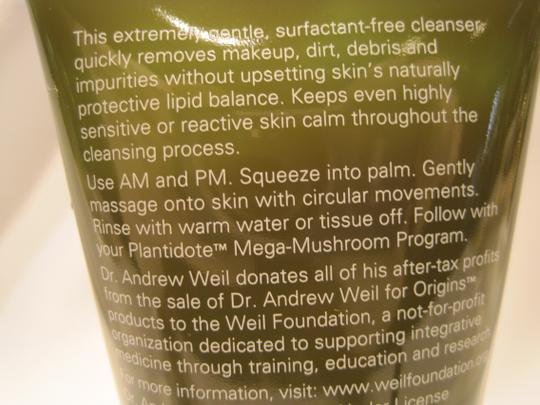 Dr, Andrew Weil for Origins Plantidote Face Cleanser; Mega Mushroom (150 ml/ 5 Fl. Oz) by Dr. Andrew Weil for ORIGINS - [ Roxanne Anjou Closet ]