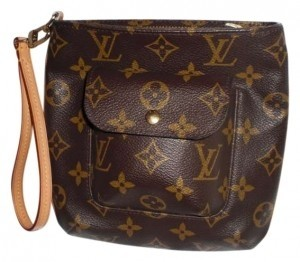 Louis Vuitton Classic Like New Wristlet in Brown