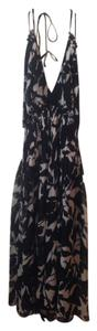 Donna Morgan Silk Halter Low Back Dress