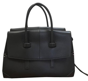Narciso Rodriguez Leather Suede Lambskin Satchel in Anthracite