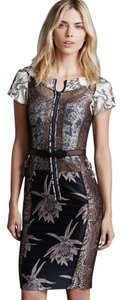 Anthropologie Byron Lars Embroidered 0 Dress
