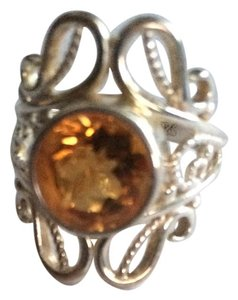 Sterling and citrine ring