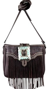 Montana West Trinity Ranch Leather Fringe Cross Body Bag