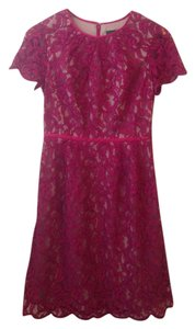 Adrianna Papell Embroidered Lace Lace Dress