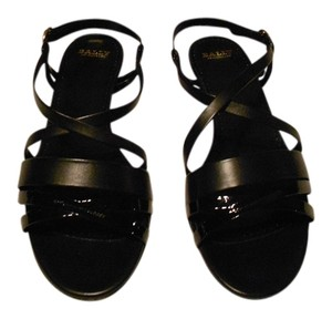 Bally Elegant Comfortable Versatile Made In Italy Black Sandals
