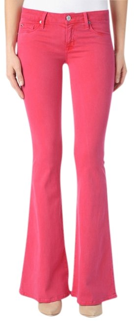 Item - Pink Mia In Soft Parade (Pink) Flare Leg Jeans Size 27 (4, S)