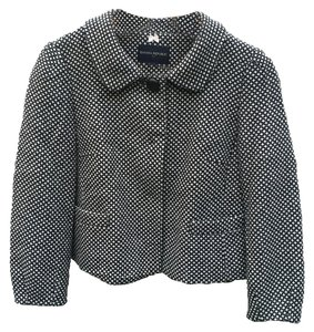 Banana Republic Cropped Wool Tweed Black Jacket