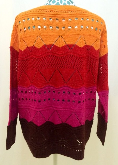 BCBGMAXAZRIA Max Azria Maxi Oversized Knit Wool Like Crochet Women Ladies Misses Girls Juniors Designer Sale Deal Value 70% On Sweater
