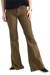 Free People Corduroy Flare Flare Pants Olive