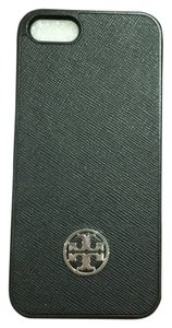 Tory Burch Tory Burch Robinson Iphone 5/5s Smart Phone Black Saffiano Leather Silver Logo Hard Case